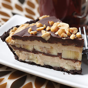 Frozen  Peanut Butter and Banana Pie